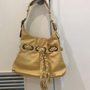 Pebble Braided kooba Snap beige Leather Hobo Bag
